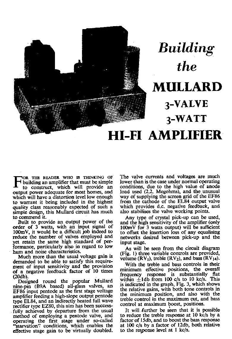 K3uh Russ Vacuum Tube Schematics Related Keywords Suggestions 275 Mullard 3 Valve Watt Amplifier