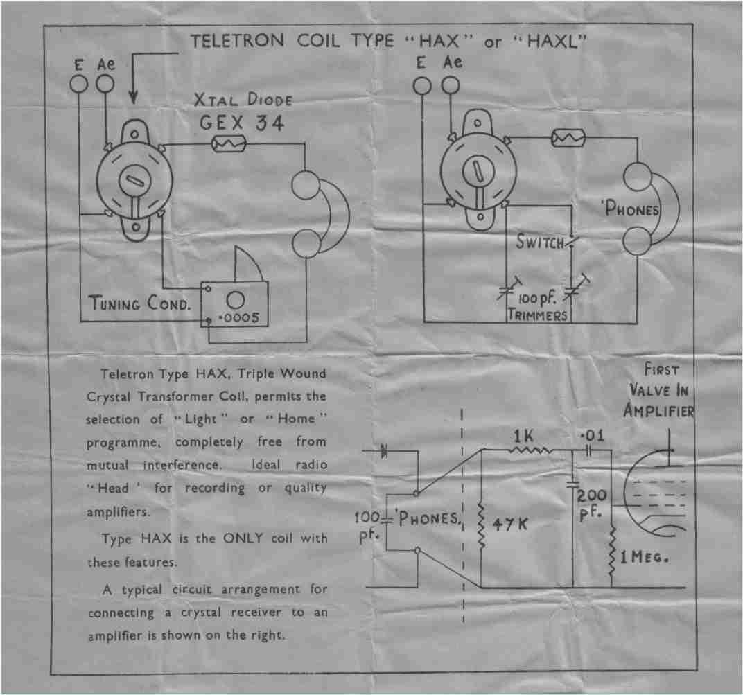 vintage radio and electronics  crystal  xtal  radio