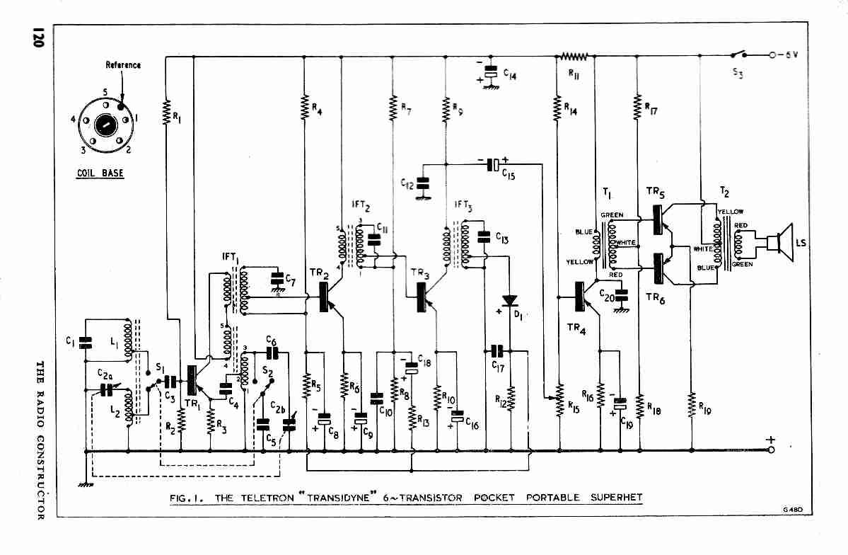 vintage radio and electronics  transidyne 6 transistor