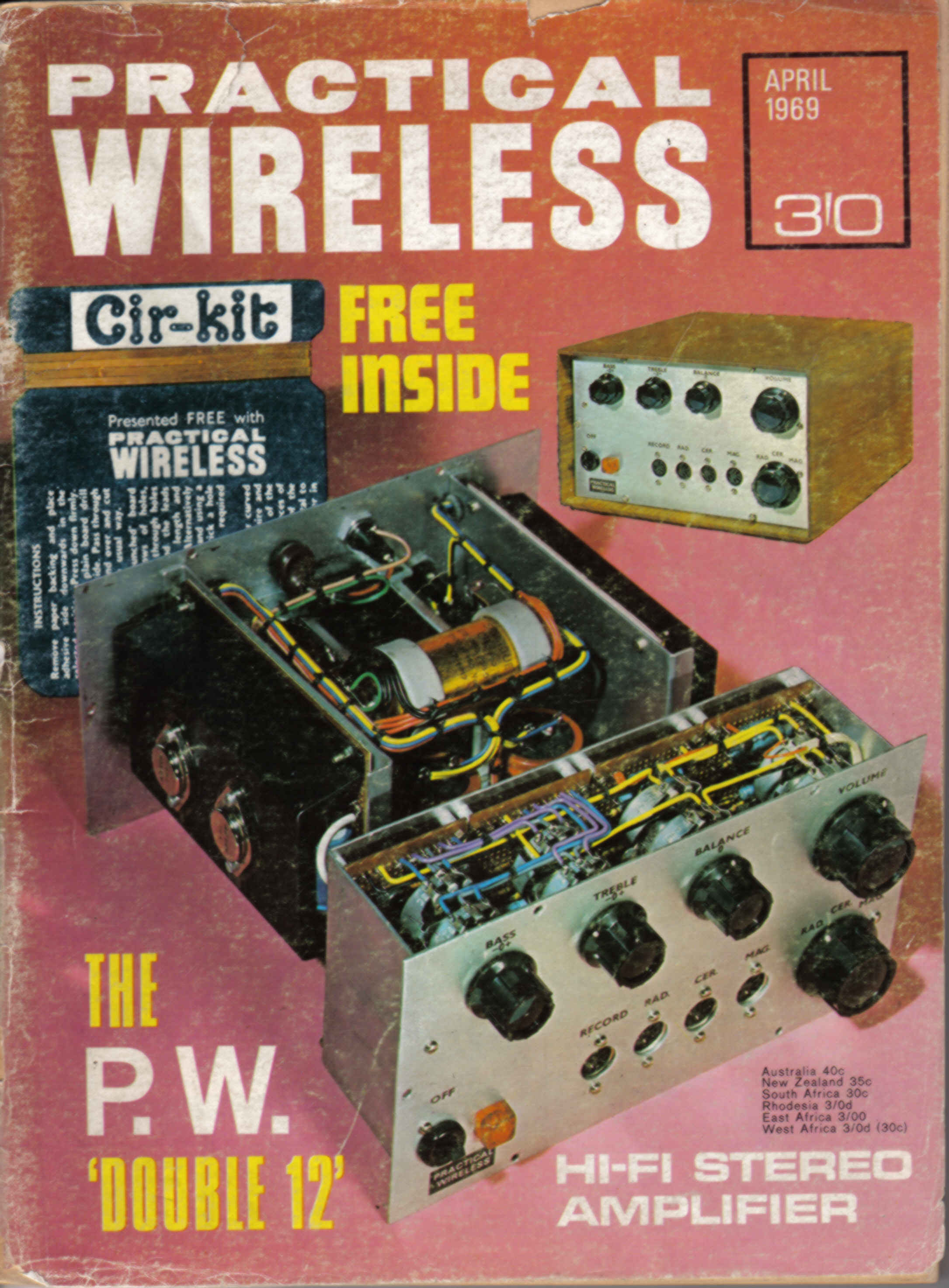 vintage radio and electronics  magazine covers from 1969