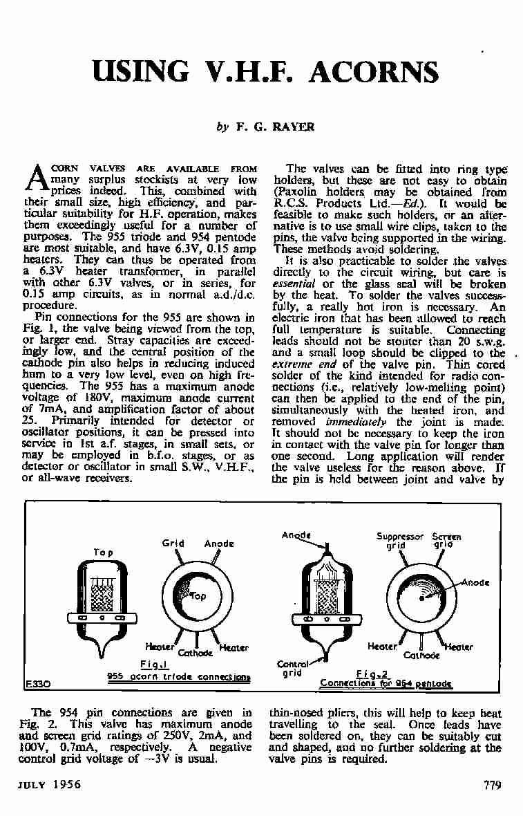 vintage radio and electronics  acorn vhf valves  more