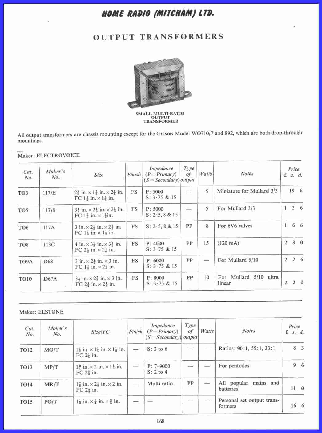 Vintage Radio And Electronics Home Radio Catalogue